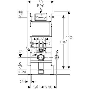 Geberit Delta 21 112cm Concealed Cistern & Dual Flush Plate – 458.118.21.1-3